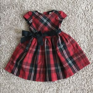 Ralph Lauren baby girl's formal plaid dress 18M